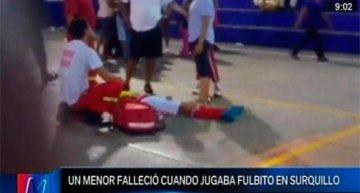 ADOLESCENTE MURIÓ CUANDO PARTICIPABA DE CAMPEONATO DE FÚTBOL